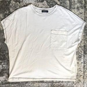 Bershka Contrast Stitch T-Shirt